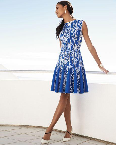 Tadashi Shoji Sleeveless Lace Print Cocktail Dress