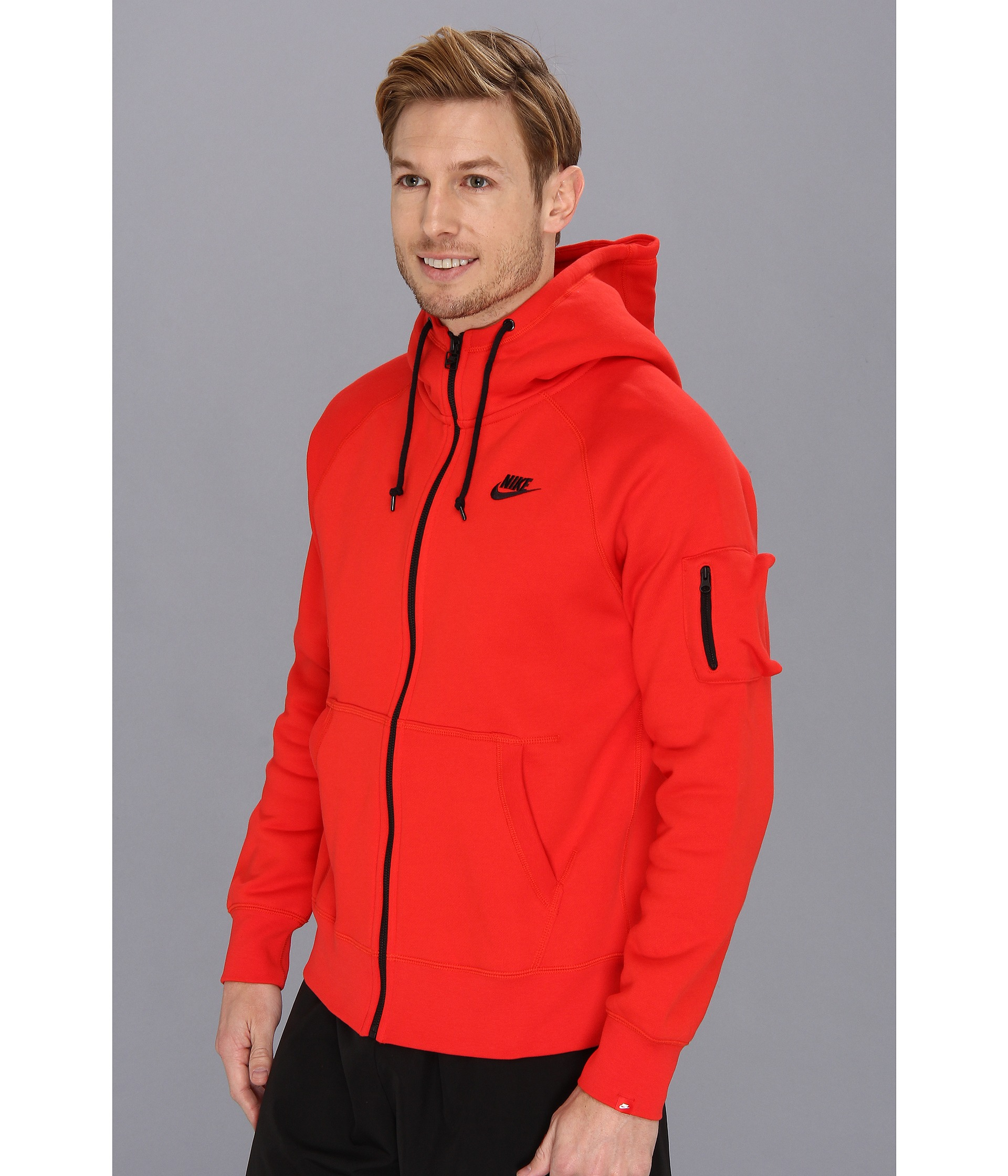 Lyst - Nike Aw77 Fleece Fz Hoodie in Red for Men ddea7c83a