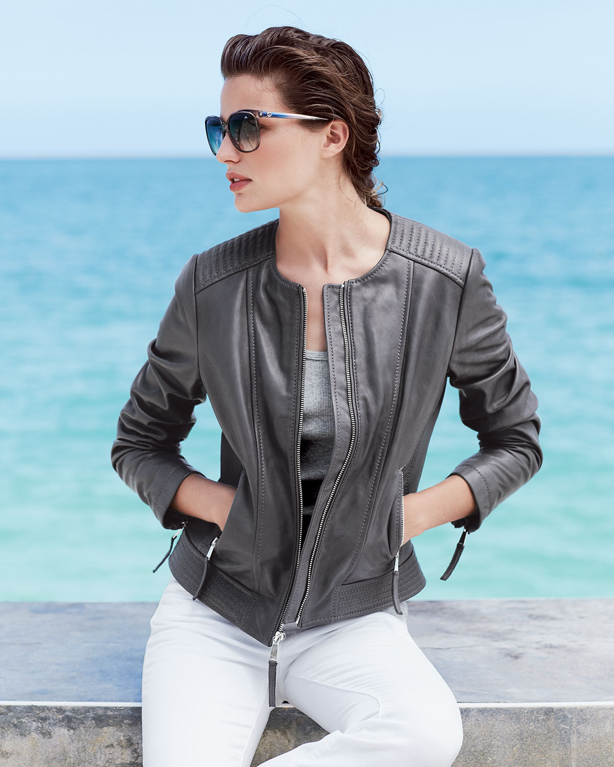 Leather jacket neiman marcus