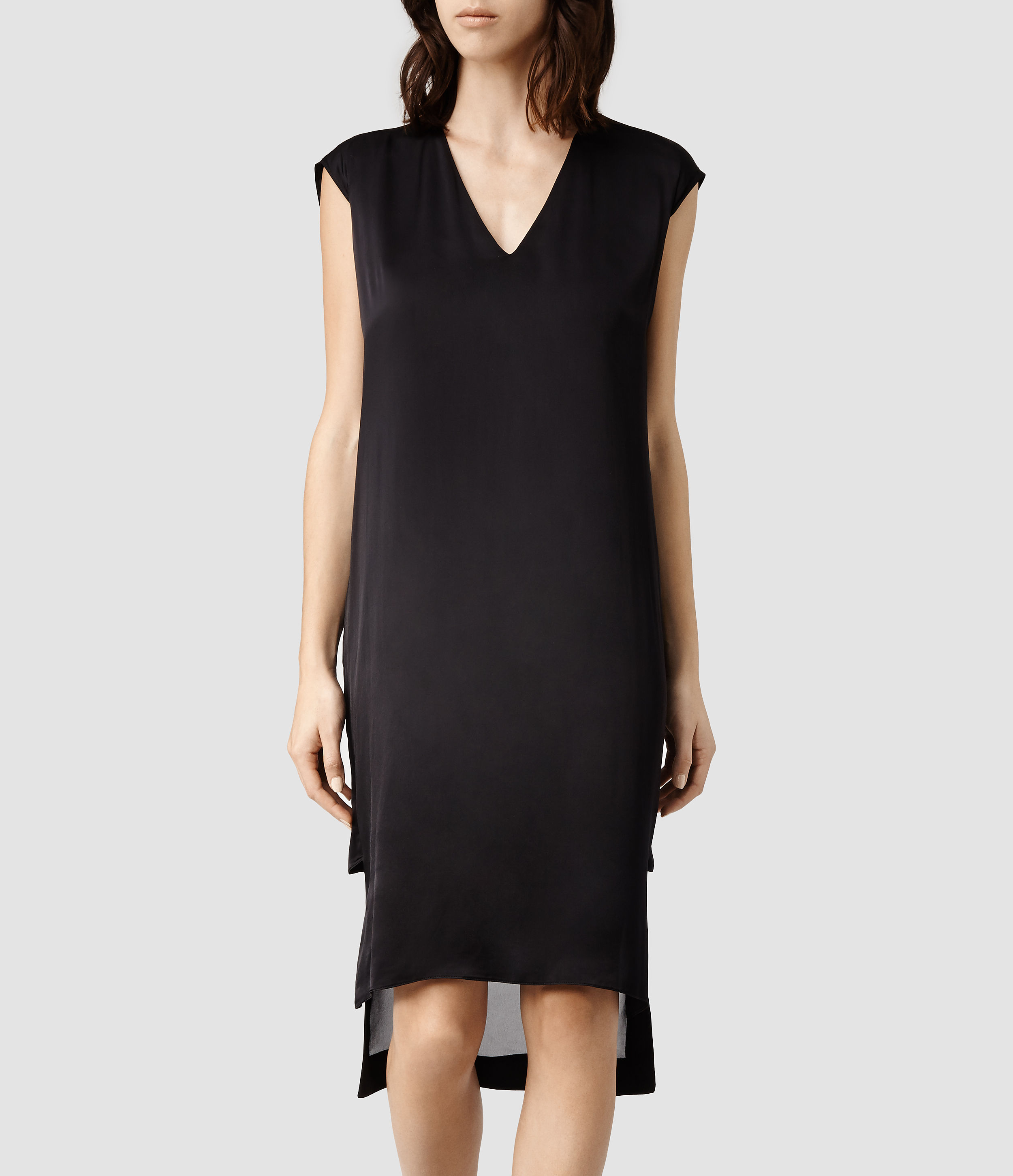 06ece9115 AllSaints Alia Dress in Black - Lyst