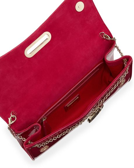 Christian Louboutin Riviera Patent Clutch Bag Fuchsia in ...