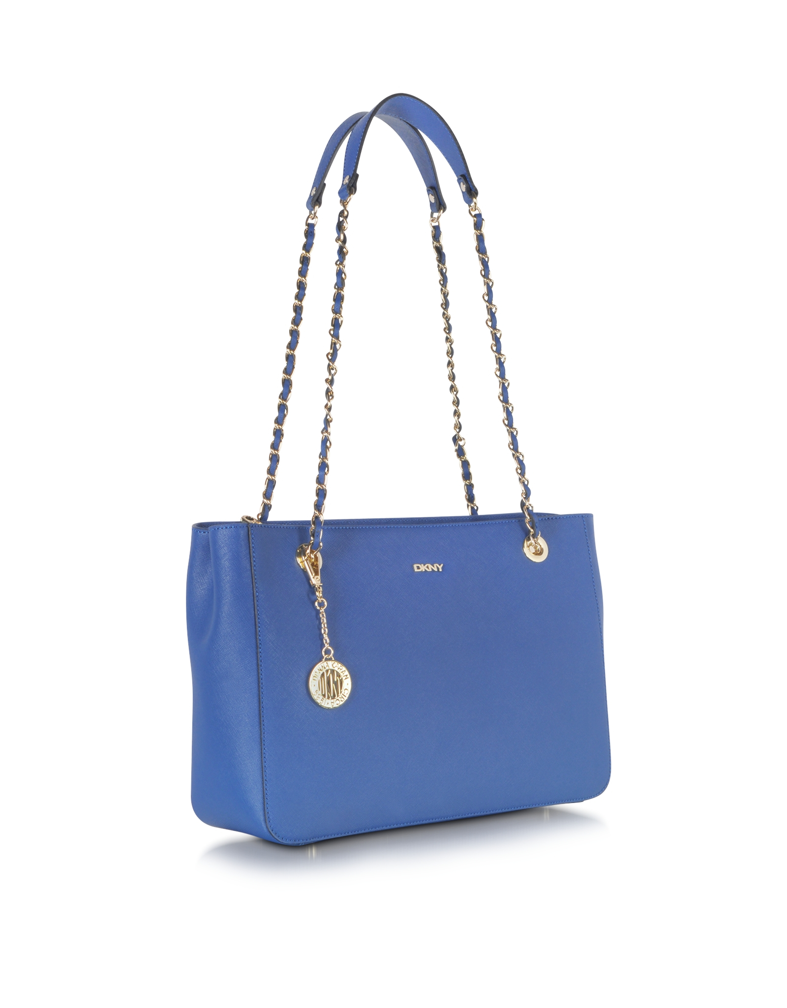 Dkny Bryant Park Saffiano Leather Shopper Wchain in Blue | Lyst