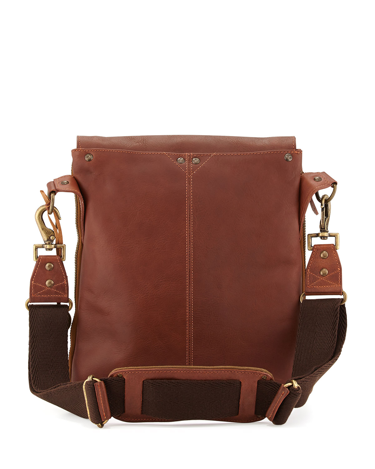 Will leather goods Otto Men's Leather Crossbody Satchel Bag in ...