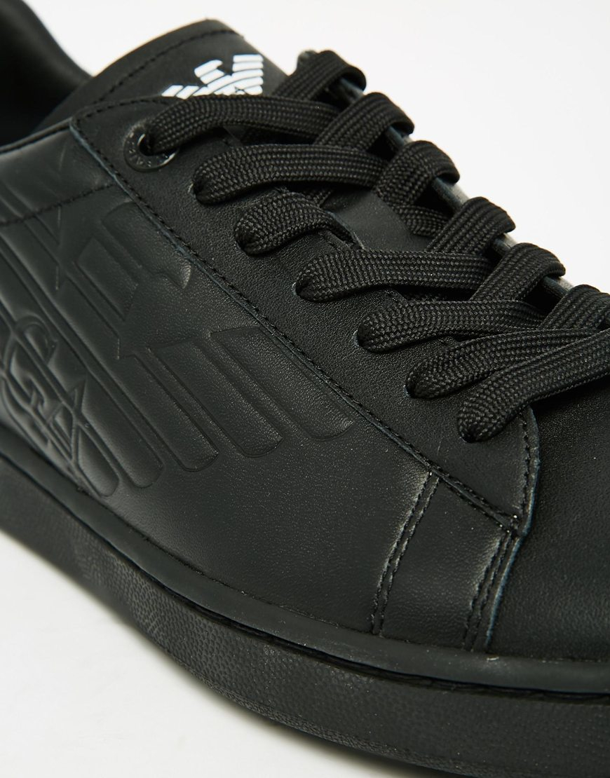 Lyst Ea7 Logo Trainers In Black For Men D Island Shoes Casual Gallery