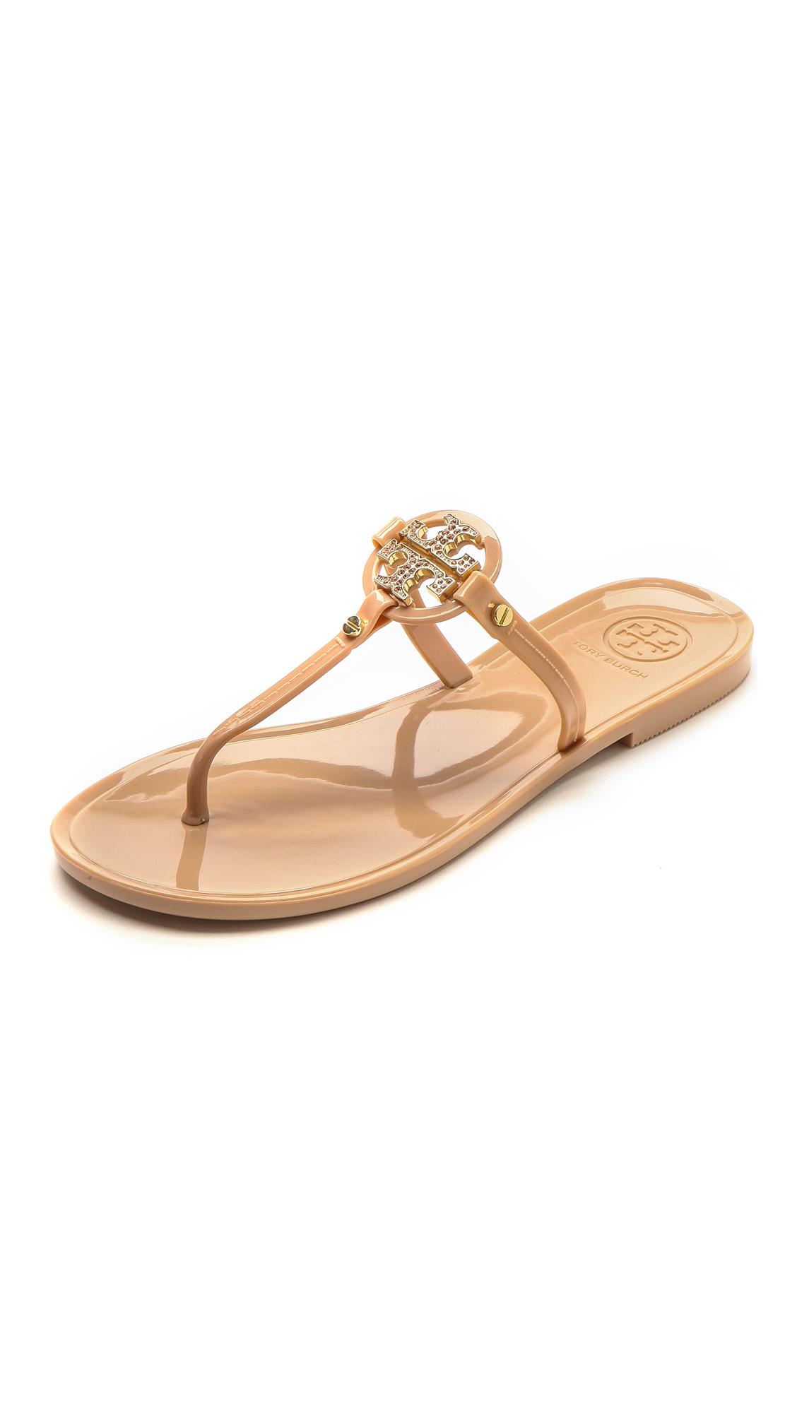 7c6e077bff5ea7 Lyst - Tory Burch Mini Miller Flat Thong Sandals - Blush in Pink
