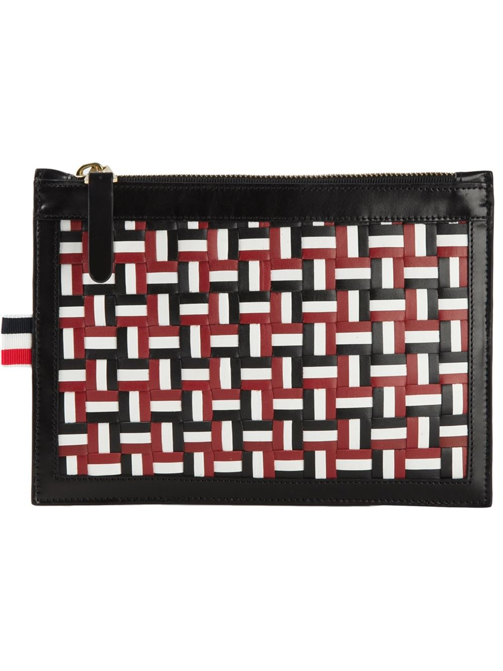 b73233c3d3 Lyst - Thom Browne Woven Zipped Clutch in Black for Men