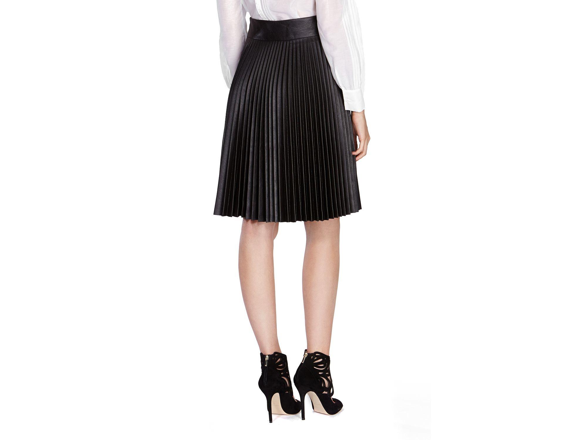 19ae9152c20 Faux Leather Skirt Pleated | Saddha