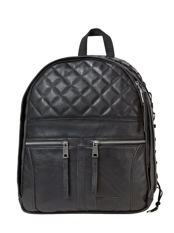 Leather Eastpak Backpack: Eastpak Jean Paul Gautier Leather Biker Backpack In Black
