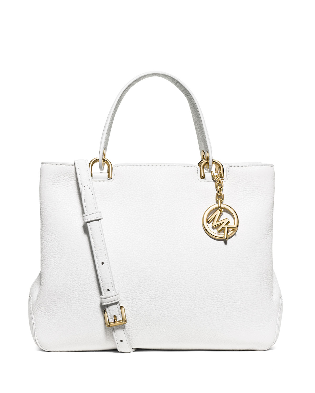 ade7d1762a3a0d MICHAEL Michael Kors Anabelle Medium Top-zip Tote Bag in White - Lyst