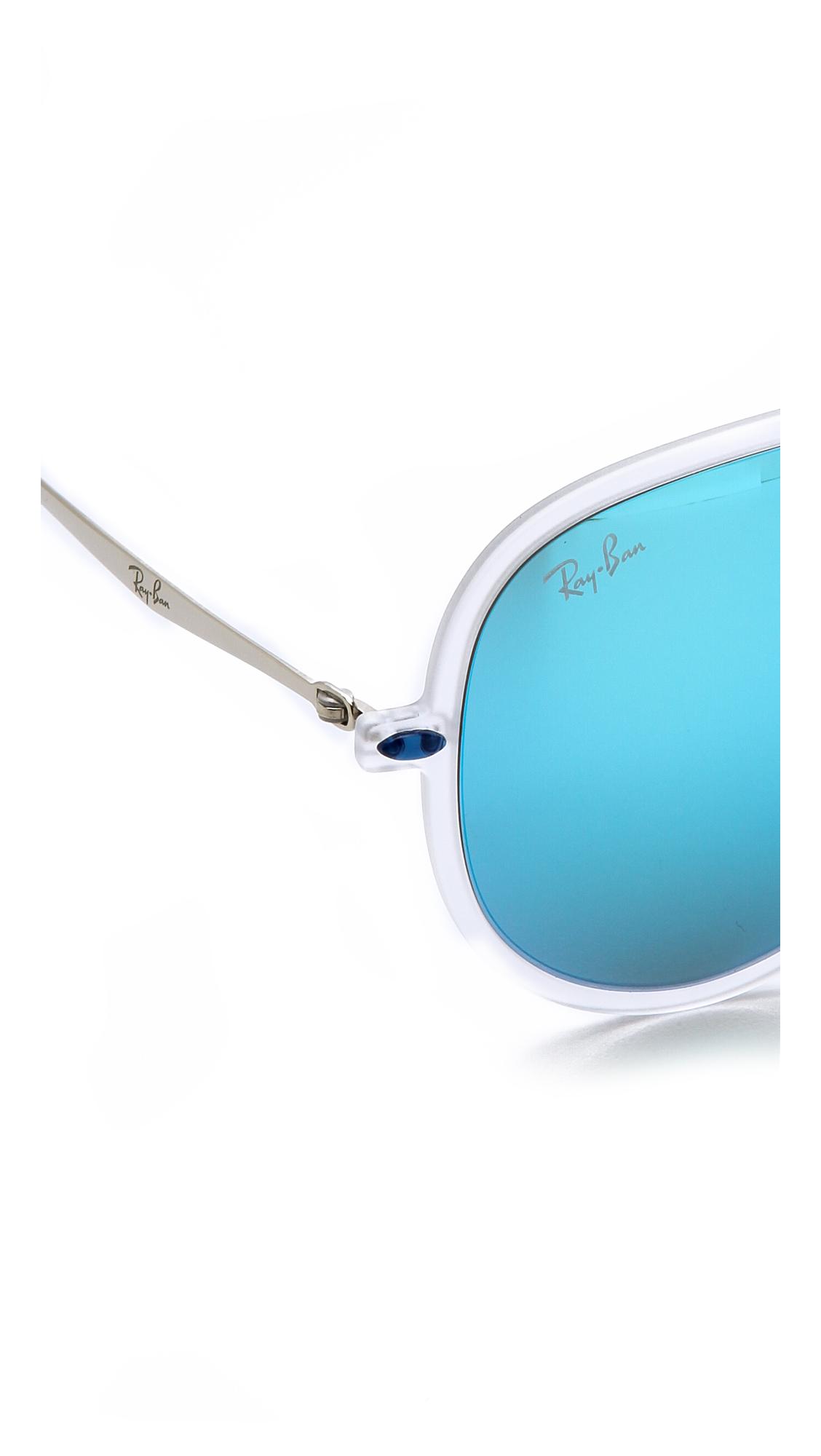 a7c03d86a7 Ray-Ban Tech Light Aviator Sunglasses - Matte Transparent Green ...