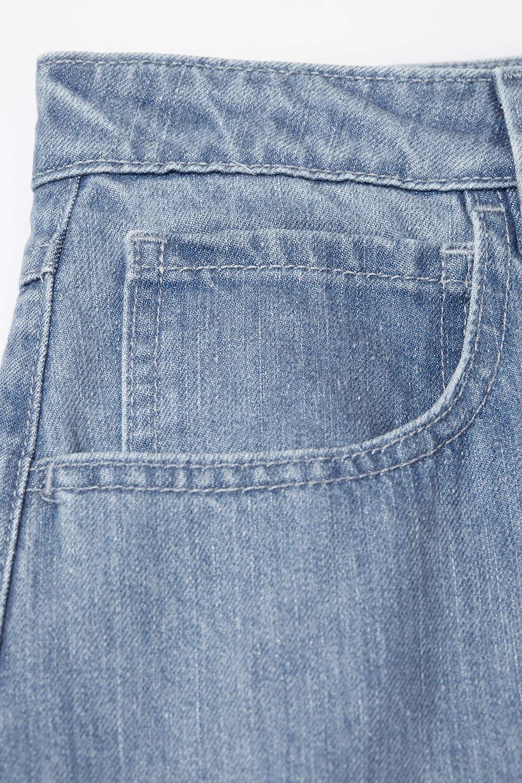 topshop draycott denim skirt by unique in blue lyst