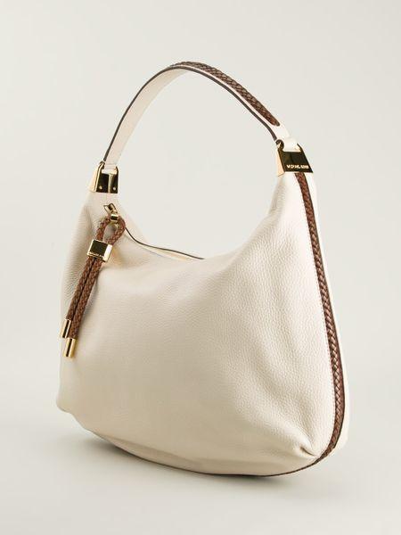 Reduced Michael Kors Skorpios Shoulder - Bags Michael Kors Skorpios Hobo Shoulder Bag White