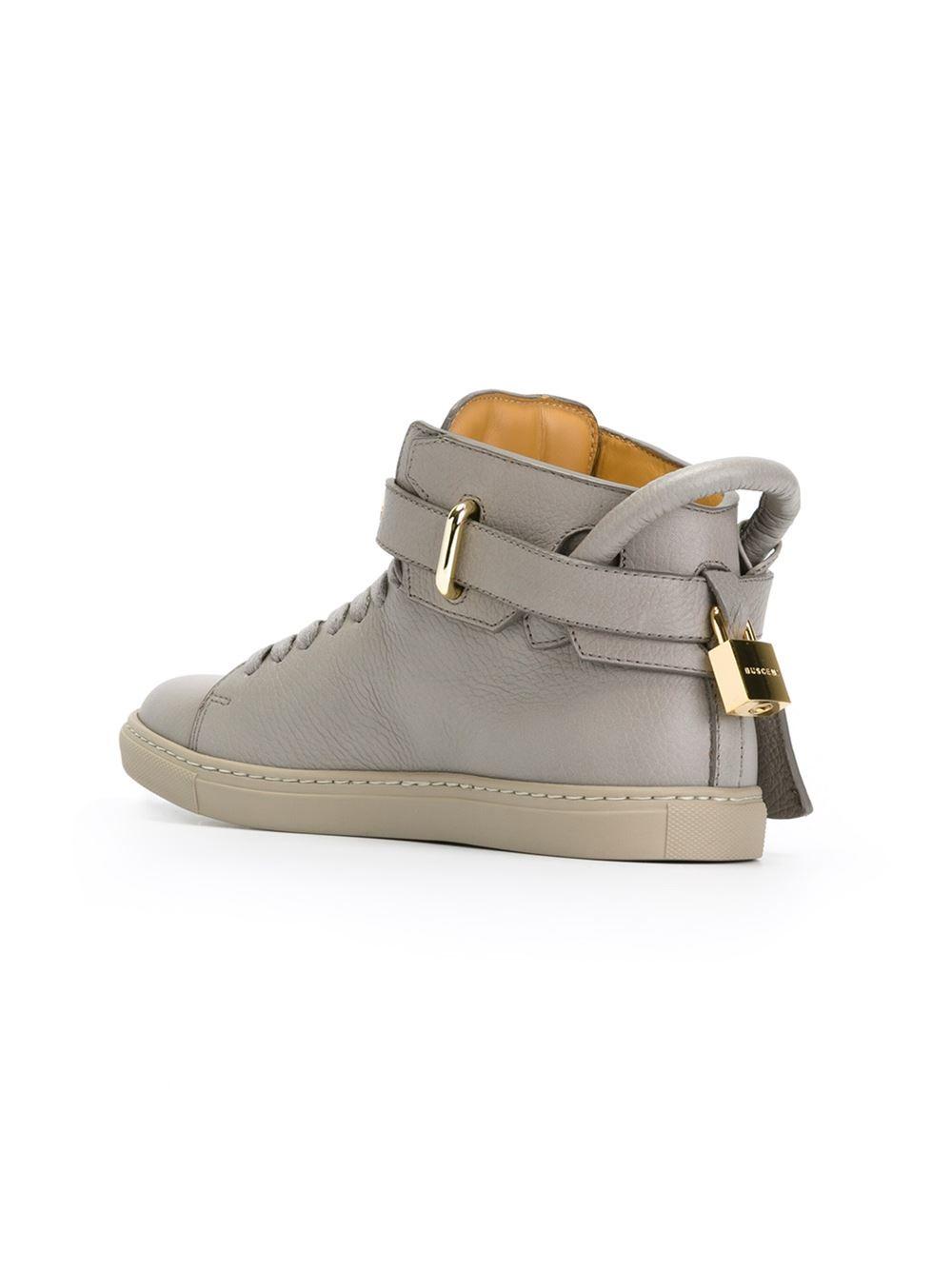 hi-top strap sneakers - Grey Buscemi 0xwITbjXW