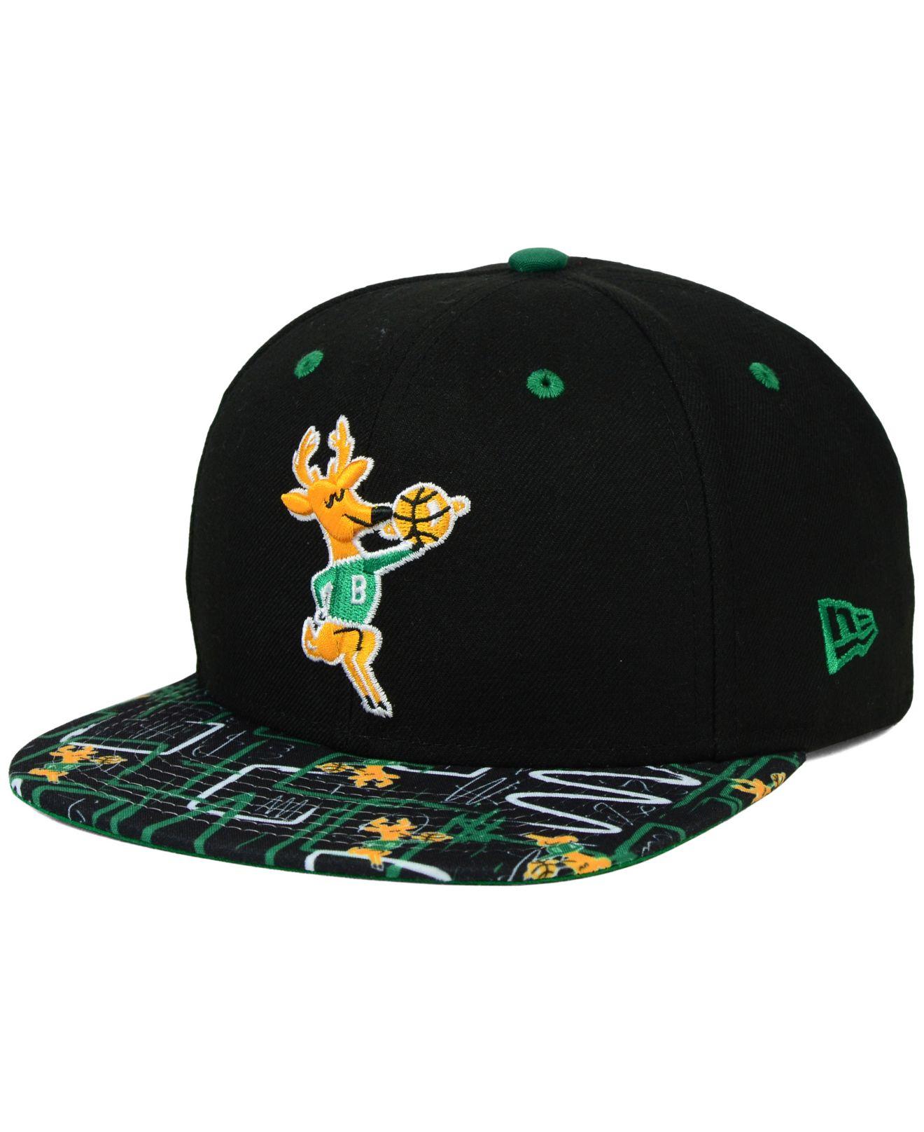 online store c8d1e 64c59 KTZ Milwaukee Bucks Hwc Tag It 9fifty Snapback Cap in Black for Men ...