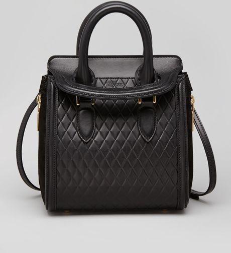 Alexander Mcqueen Heroine Mini Quilted Satchel Bag in ...