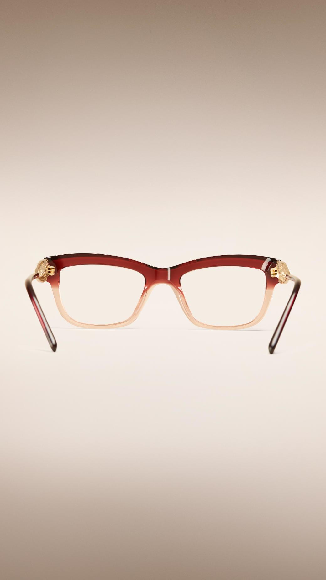46ac3a4cbb Lyst - Burberry Gabardine Lace Collection Cat-eye Optical Frames ...