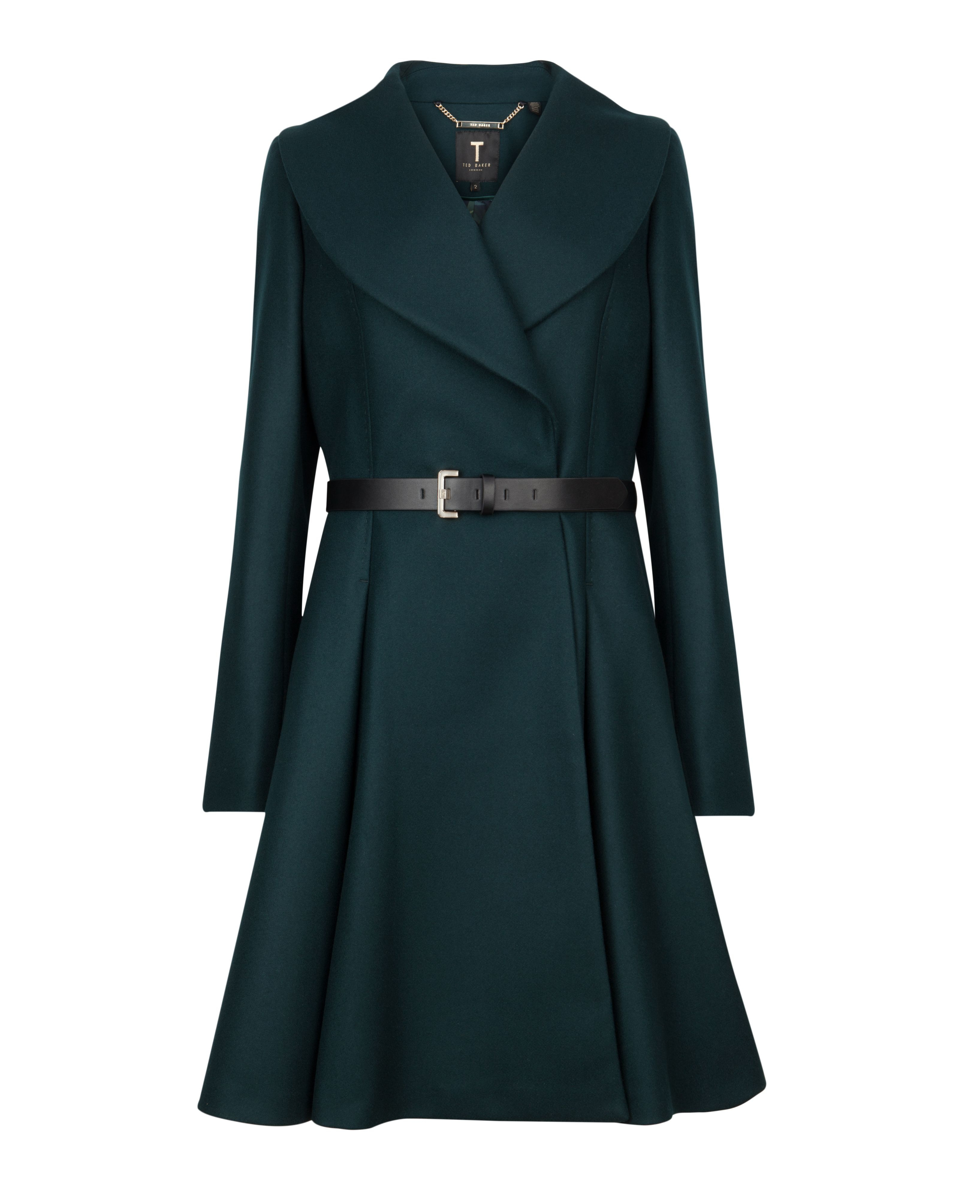 Flared Wool Coat Sm Coats