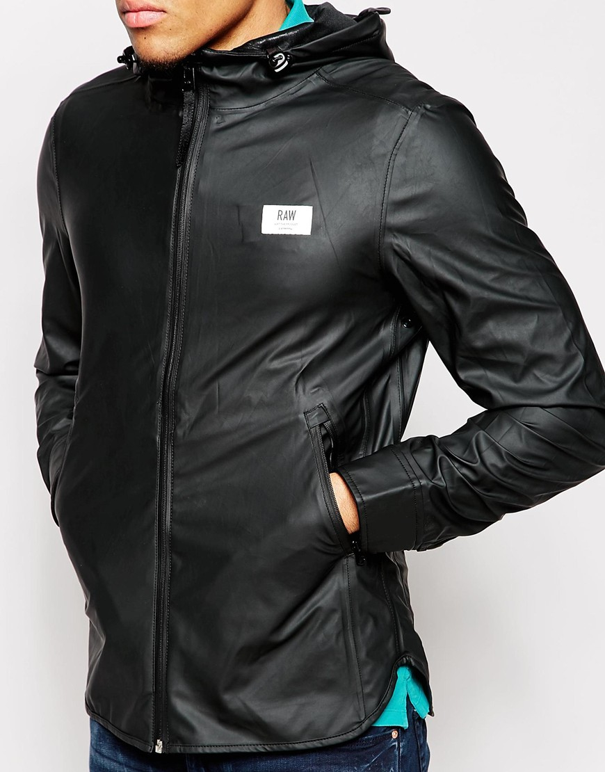 G-star raw Hooded Jacket Nubes Waterproof in Black for Men | Lyst
