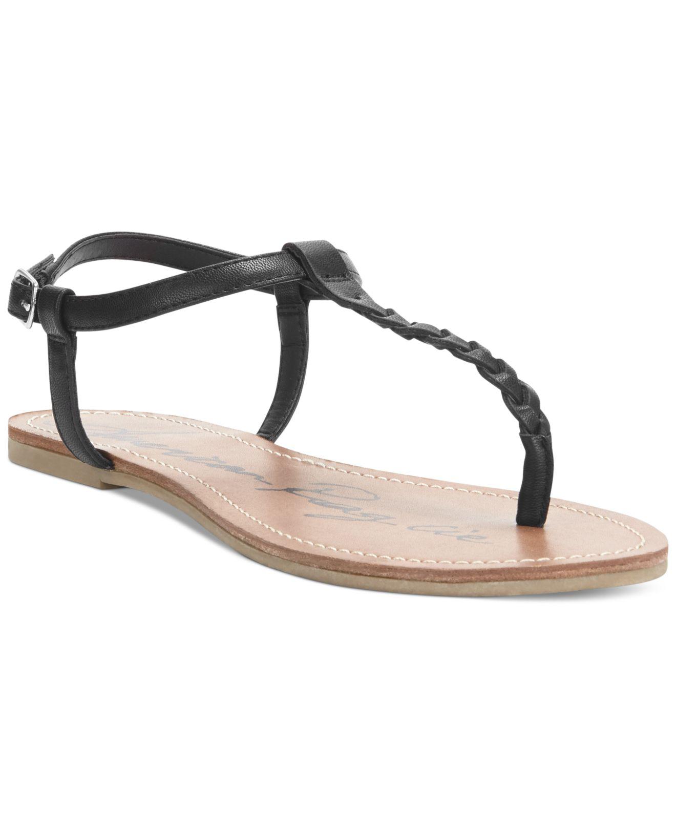 cc228037abe8 Lyst - American Rag Kelli Braided Thong Sandals in Black