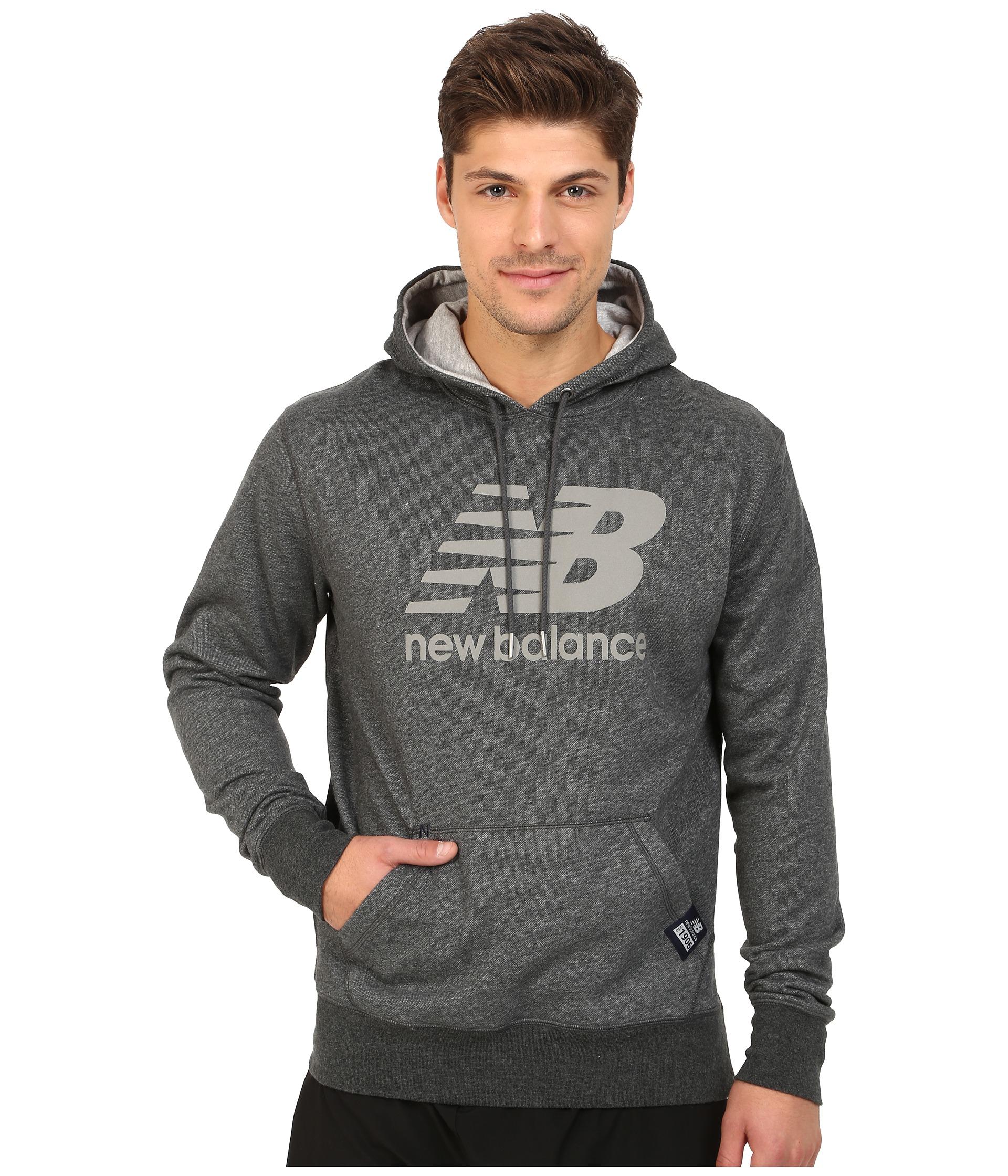 eb4b76ca42 NEW Balance-Essentials NB Logo Hoodie Black con cappuccio Pullover ...