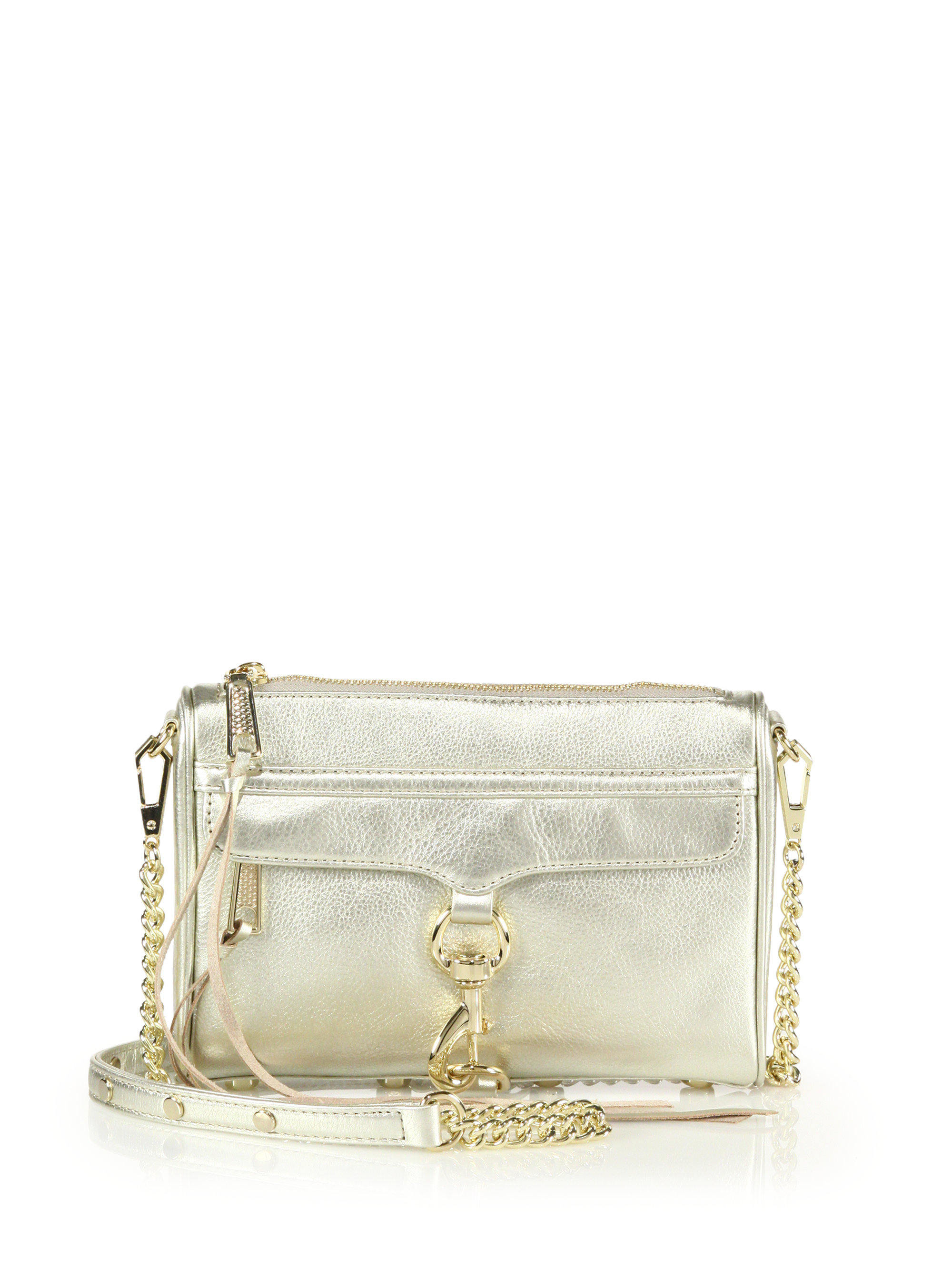 20fea7bf50 Lyst - Rebecca Minkoff Mini Mac Metallic Convertible Crossbody Bag ...