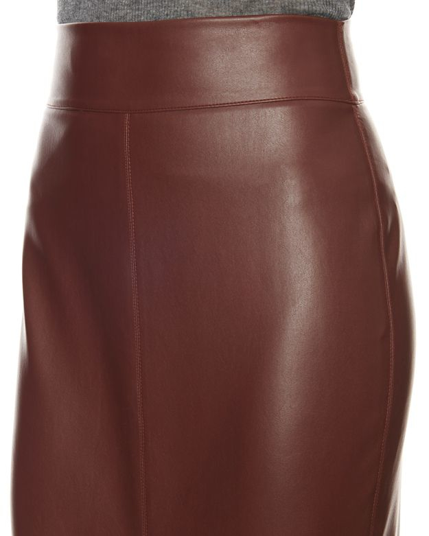 Bailey 44 Exclusive Faux Leather Pencil Skirt: Wine in Red | Lyst