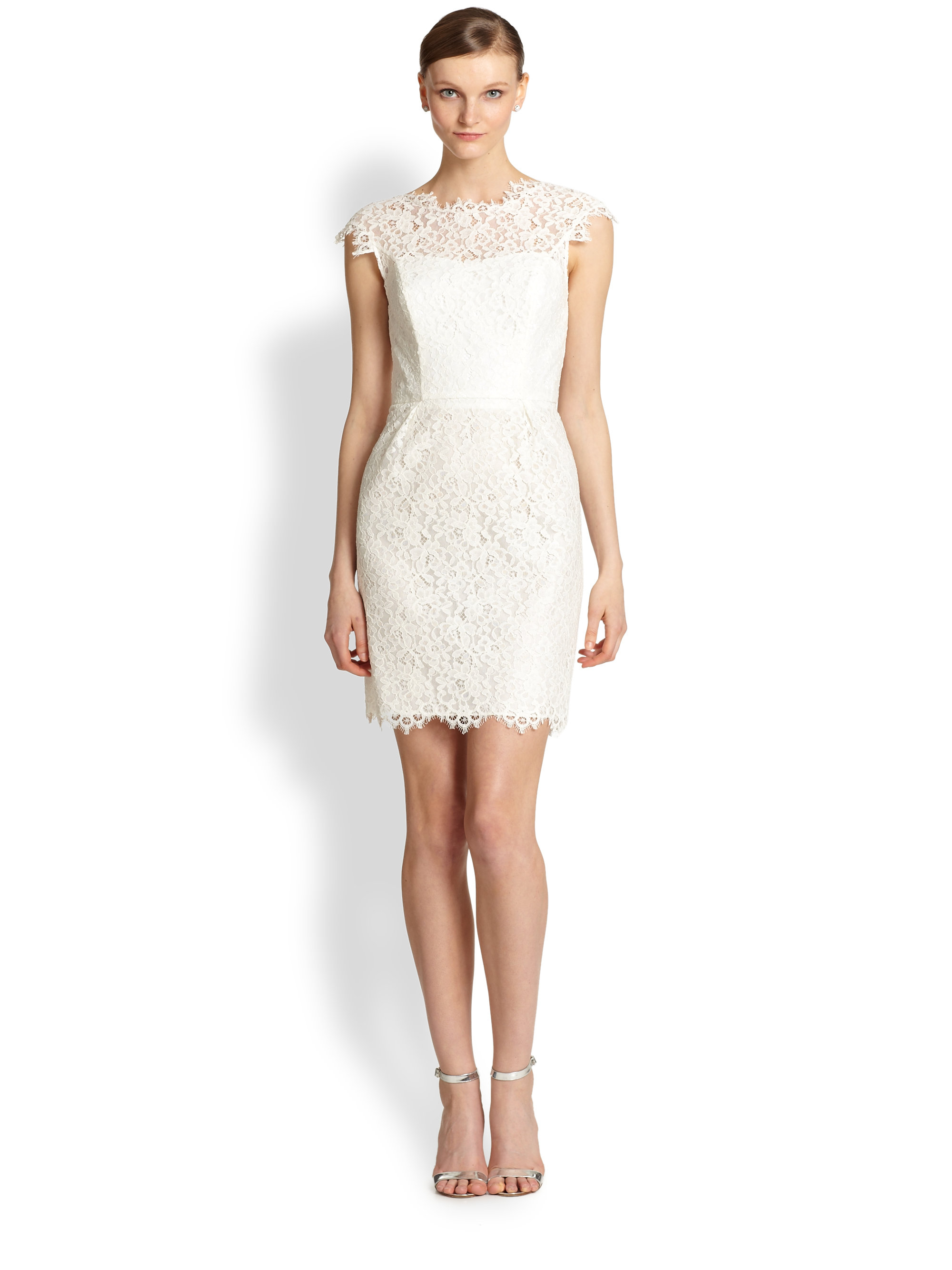 Shoshanna Scarlett Lace Dress in White  Lyst