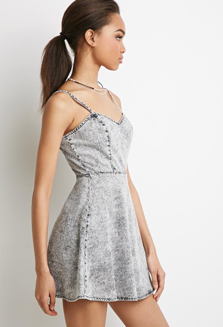 Denim tube dress forever 21