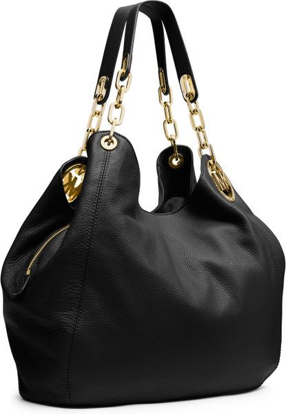 Discount Michael Kors Fulton Shoulder - Michael Kors Fulton Large Shoulder Bag Black
