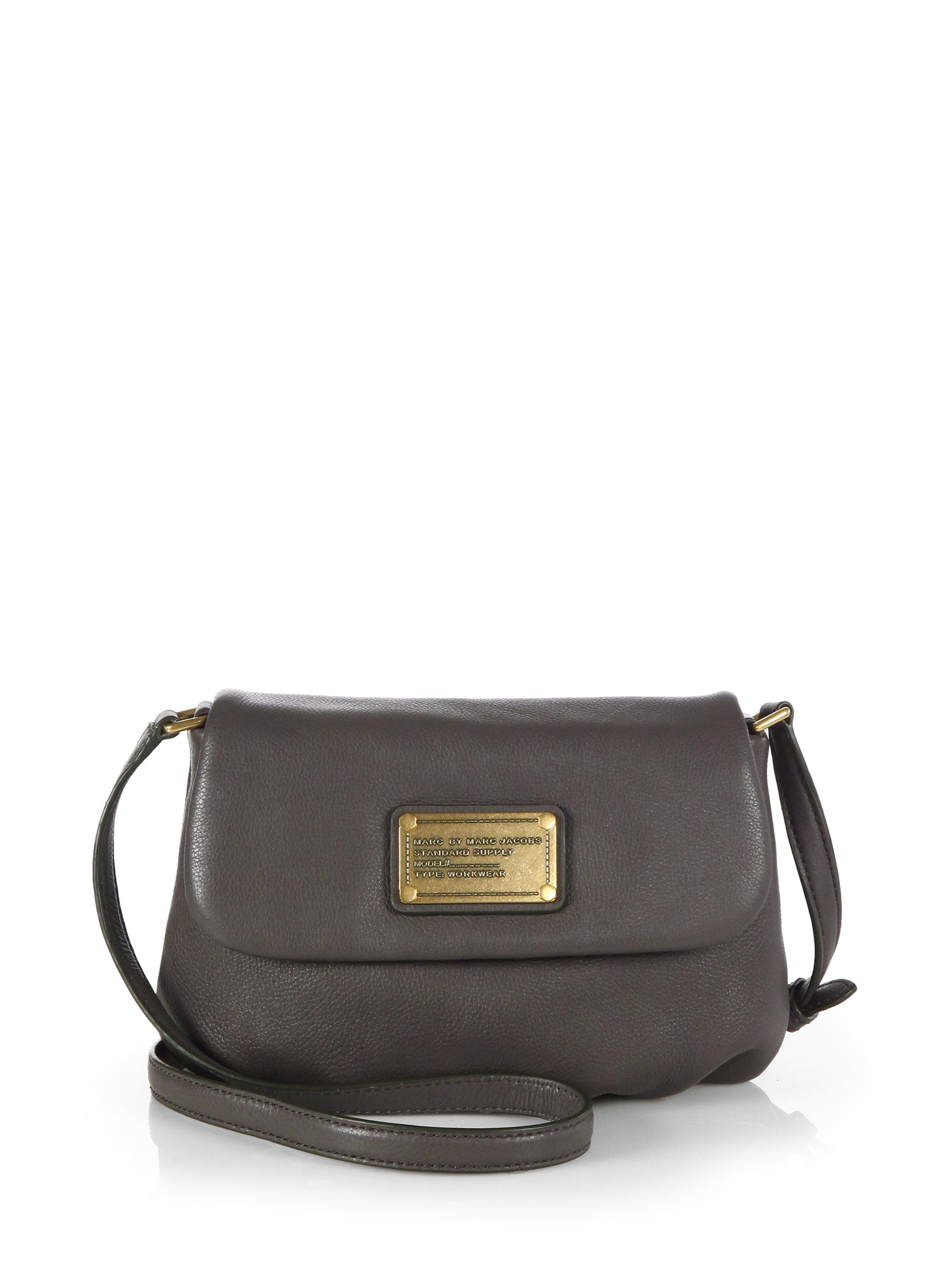 3cd1f4434f9a Lyst - Marc By Marc Jacobs Classic Q Flap Percy Shoulder Bag in Gray