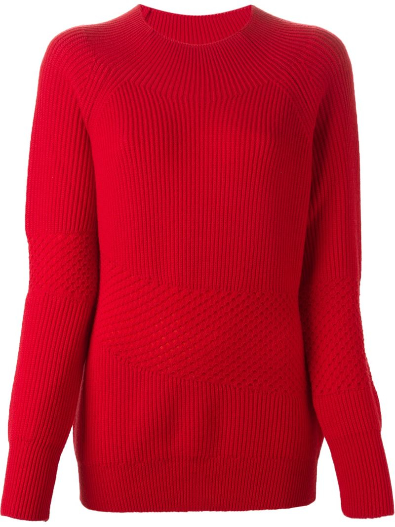 kenzo round neck sweater in red lyst. Black Bedroom Furniture Sets. Home Design Ideas