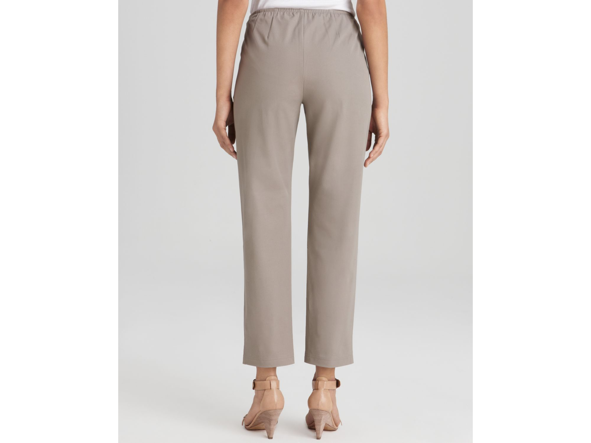 Lyst Eileen Fisher Washable Crepe Slim Boot Cut Pants In