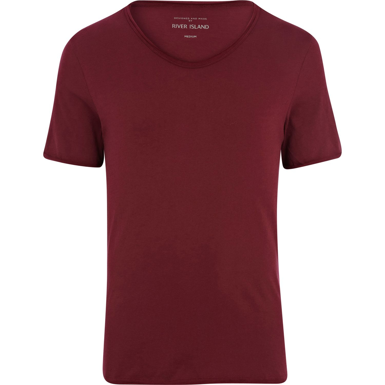 river island low scoop neck t shirt in red for men lyst