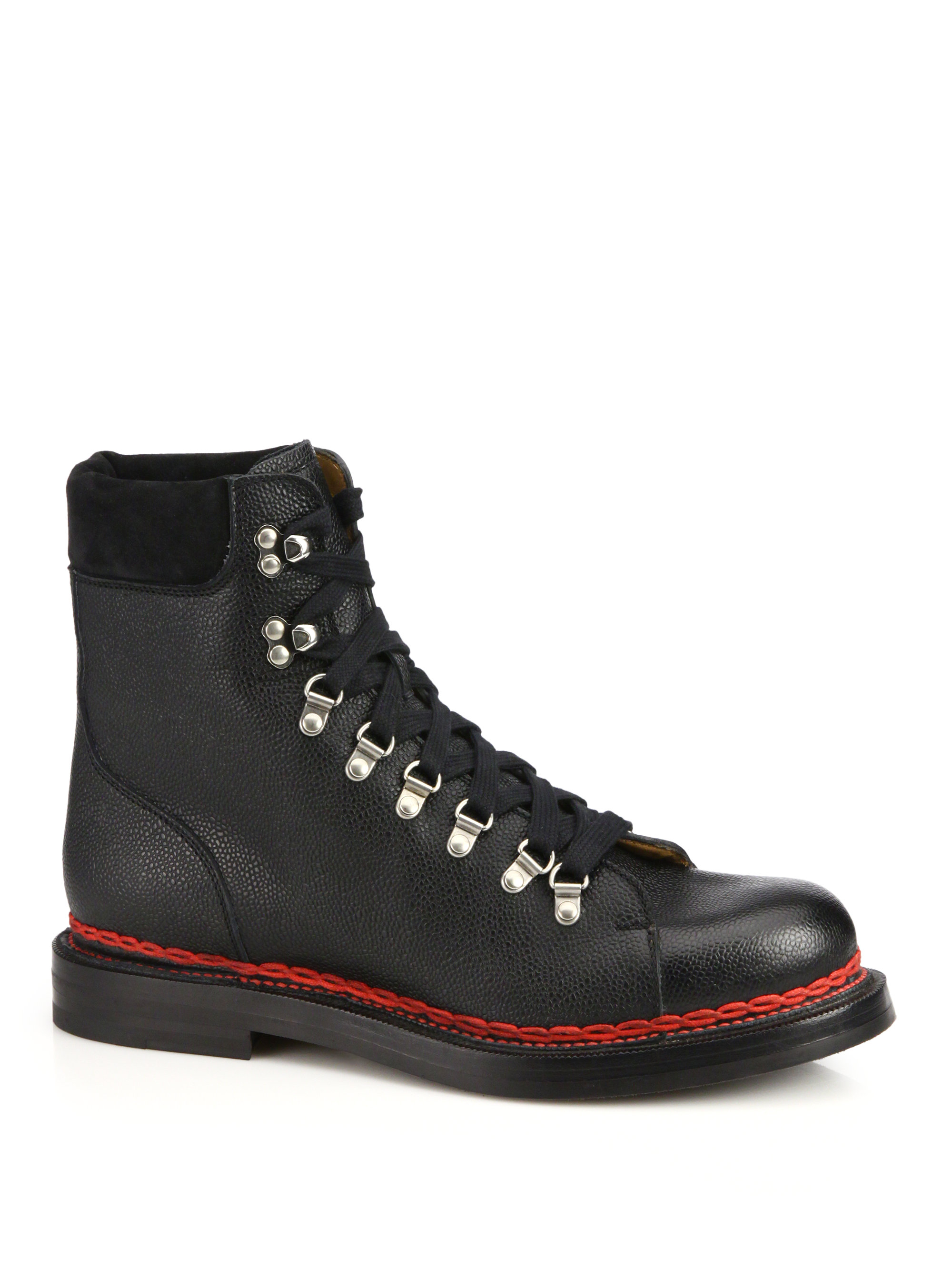 c03743077 Gucci Tracker Lace-Up Leather and Suede Boots in Black for Men - Lyst
