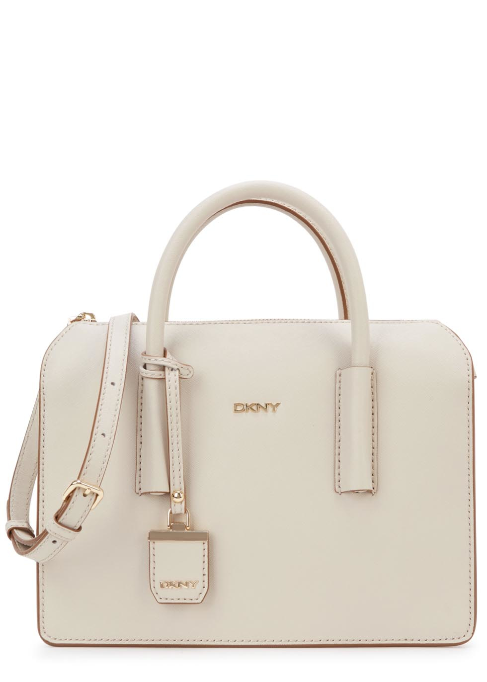 128ad34bb1 DKNY Bryant Park Cream Leather Tote in Natural - Lyst