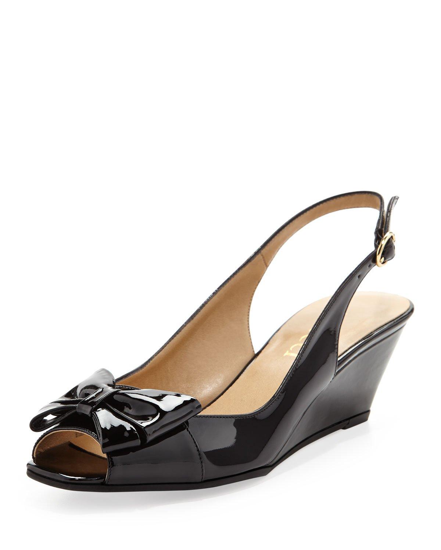 Low Heel Slingback Wedge Shoes