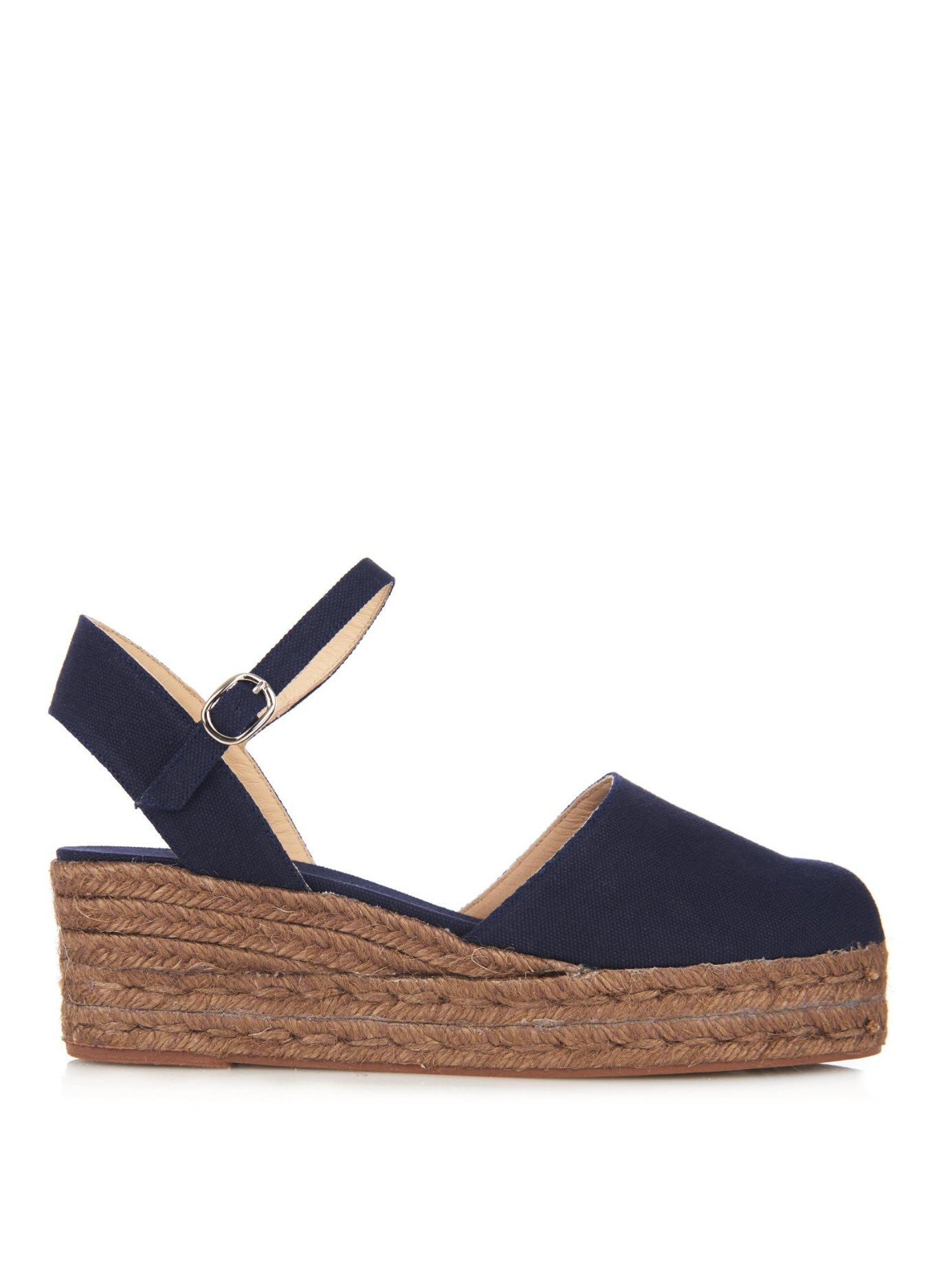 Lyst Castaner Clara Canvas Espadrille Wedge Sandals In Blue