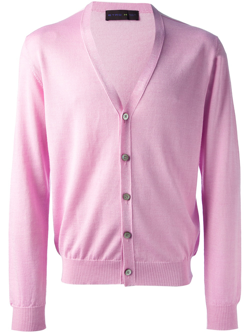 Etro Classic Cardigan in Pink for Men | Lyst