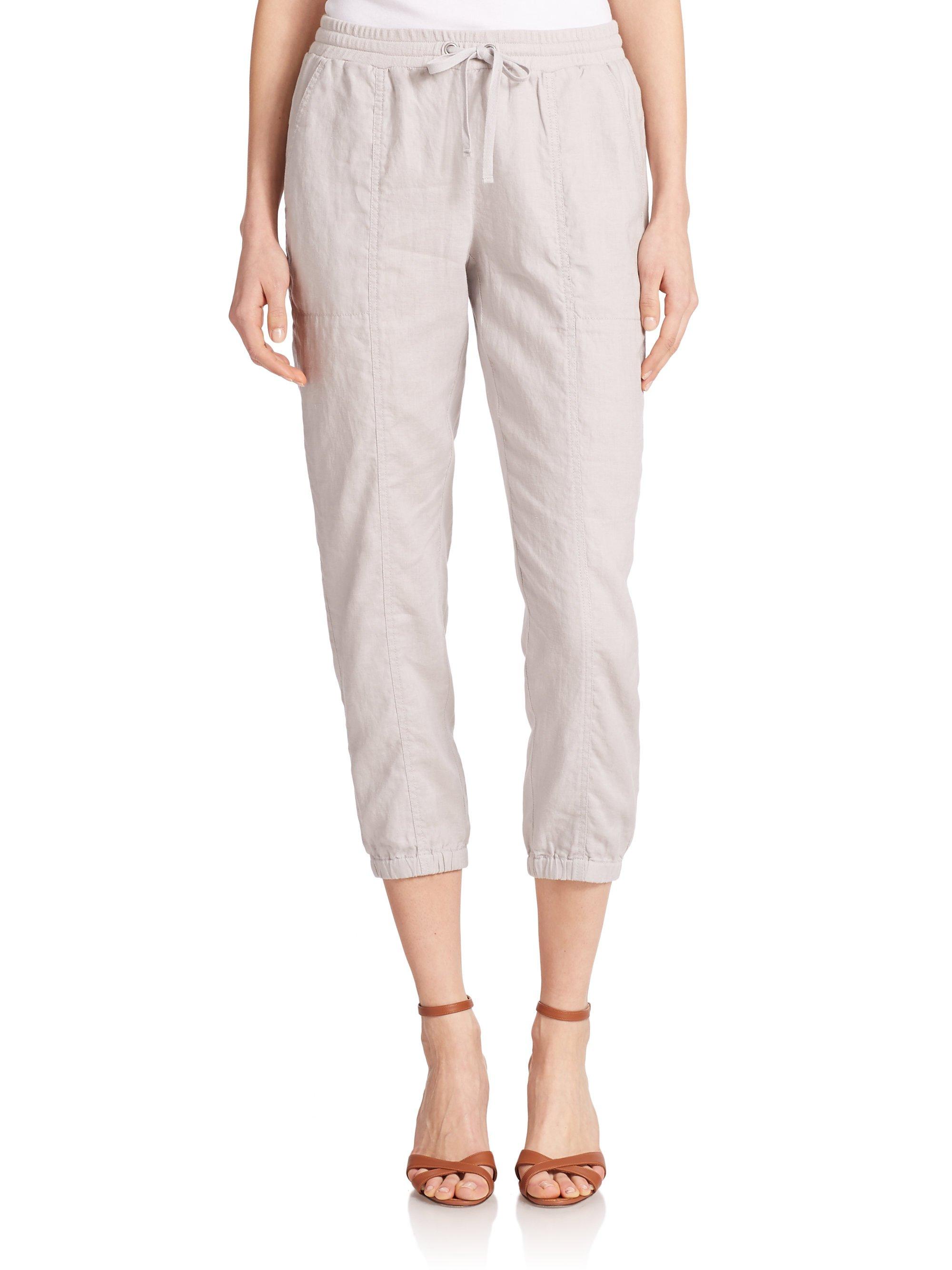 Model Grey Linen Pants Womens | Pant So