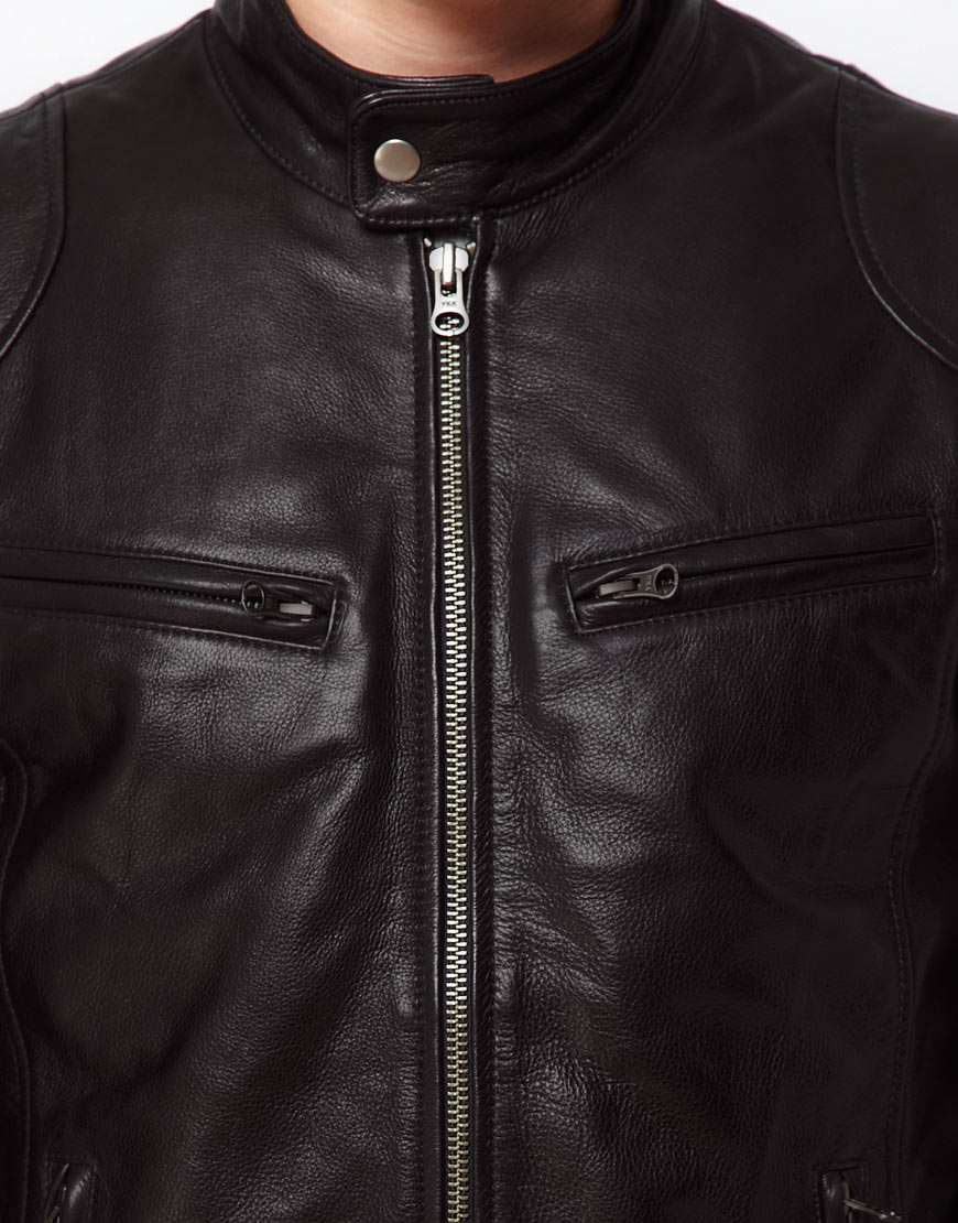 2c4177b8e0cc In In In Leather Barney s Lyst Barneys Barneys Barneys For Black Jacket Men  Biker Originals 4qXa6aE