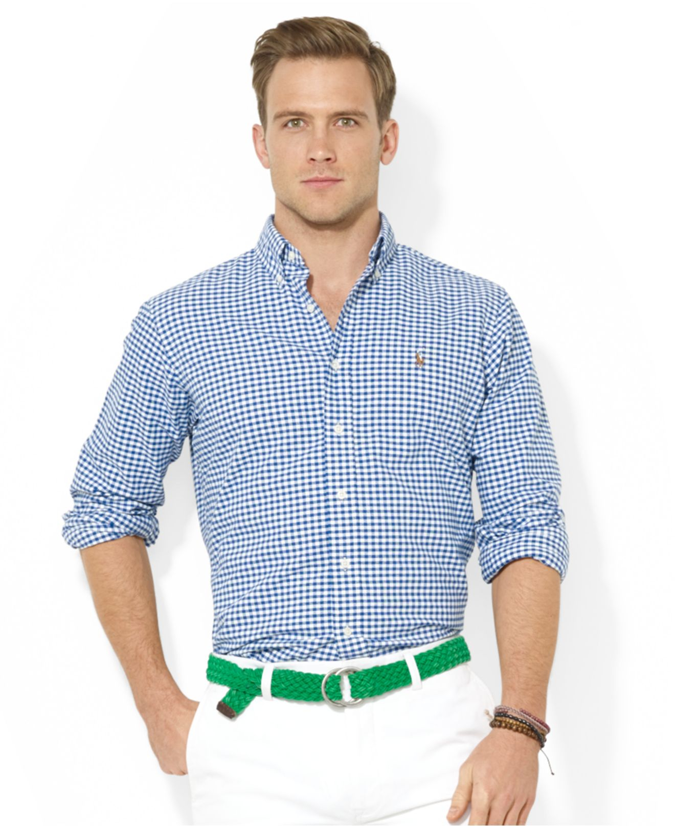e3962154e0c Lyst - Polo Ralph Lauren Core Classic-Fit Checked Oxford Shirt in ...