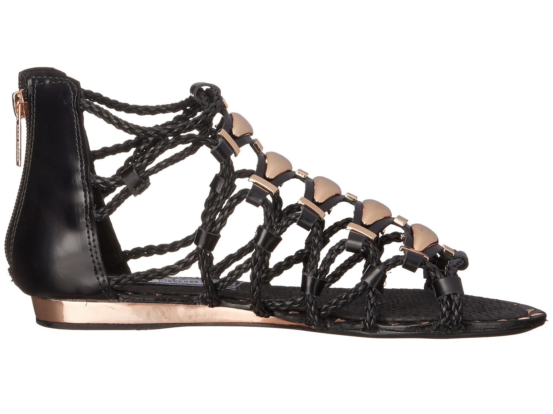 ae372ca3839c Lyst - Ivy Kirzhner Brass Gladiator Sandal in Black