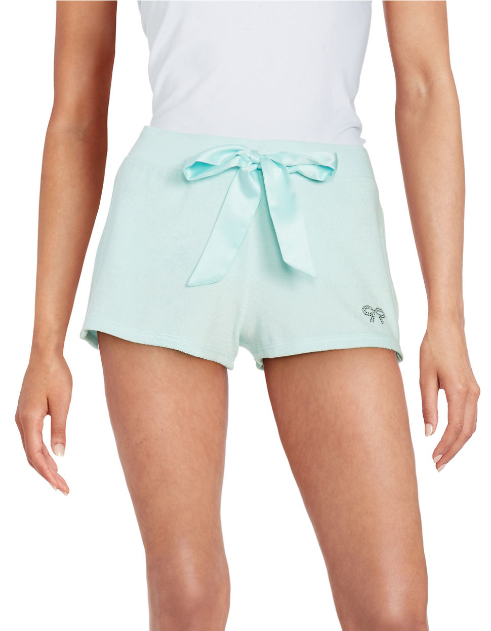 Betsey johnson Baby Terry Cloth Shorts in Blue | Lyst