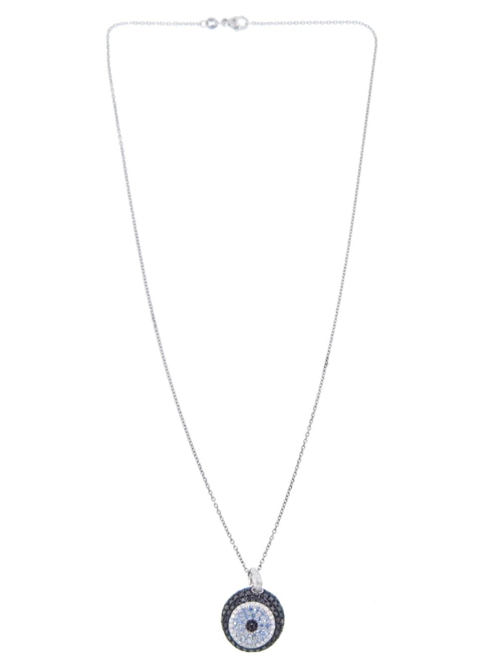 Lyst pippo perez evil eye necklace in black gallery aloadofball Gallery