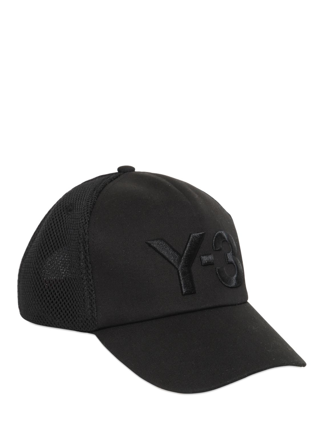 Y-3 Logo Mesh   Nylon Trucker Hat in Black for Men - Lyst b0591861cde