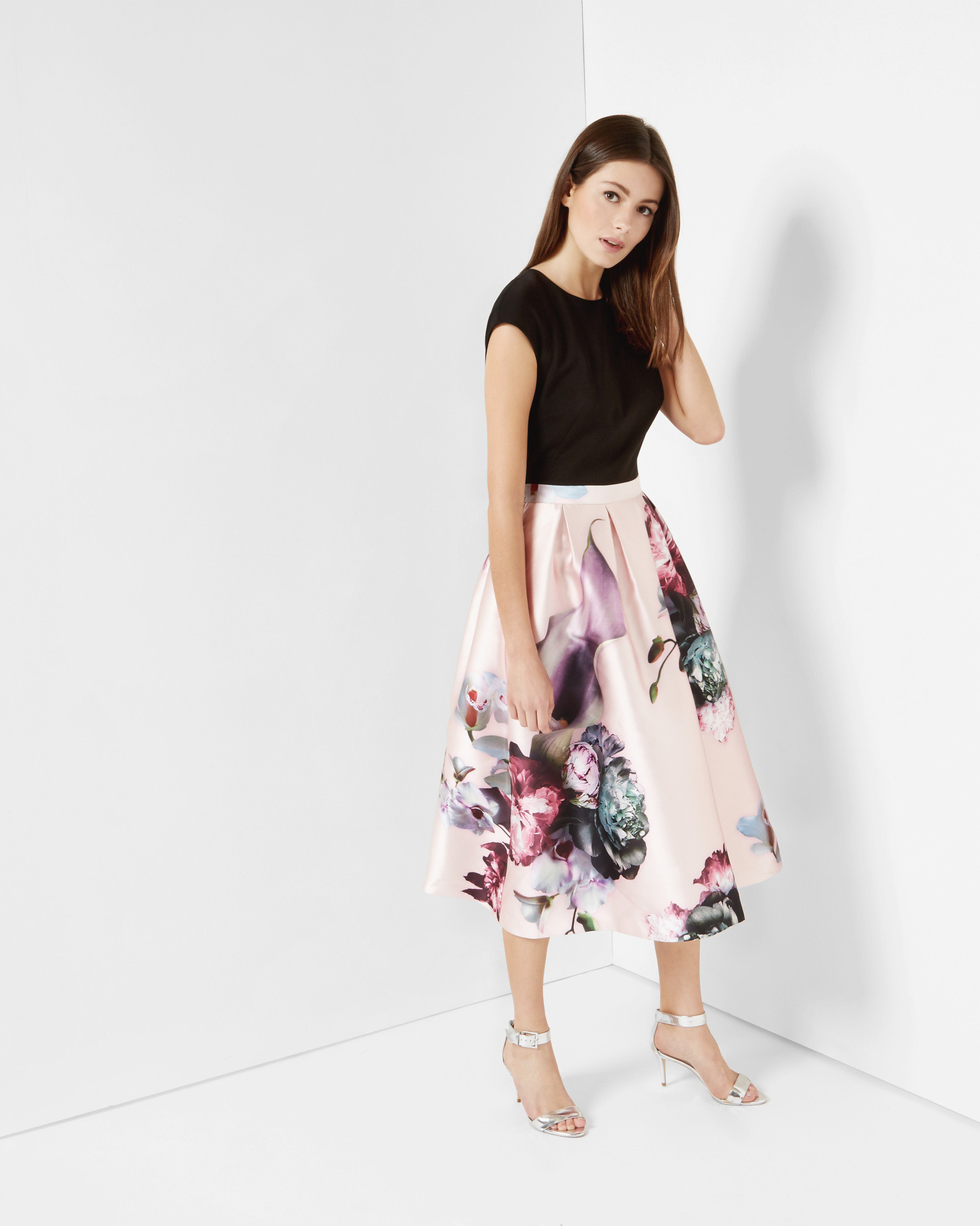 Lyst - Ted Baker Ethereal Posie Midi Dress-9630