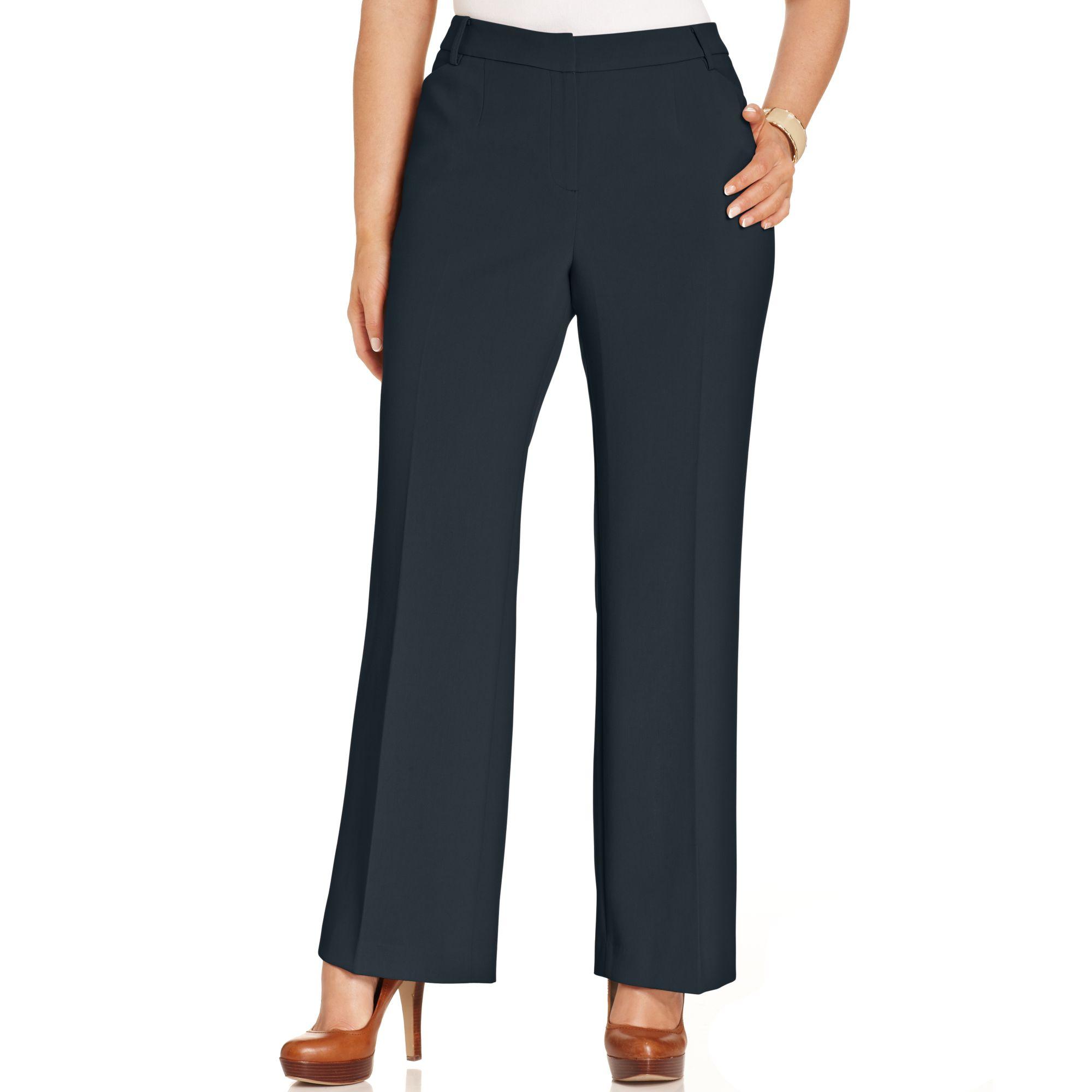 3c886c7993821 Lyst - Jones New York Collection Plus Size Modern Fit Wide-leg Pants ...