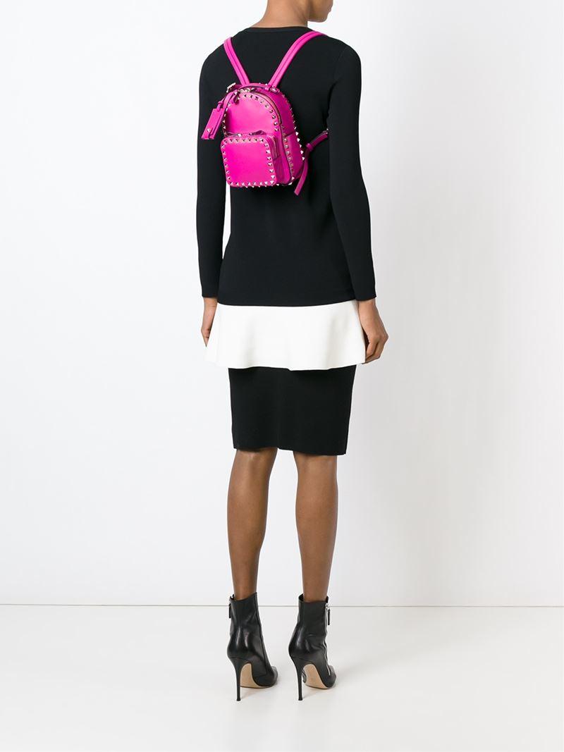 83e3a8ace2 Valentino Mini 'rockstud' Backpack in Purple - Lyst