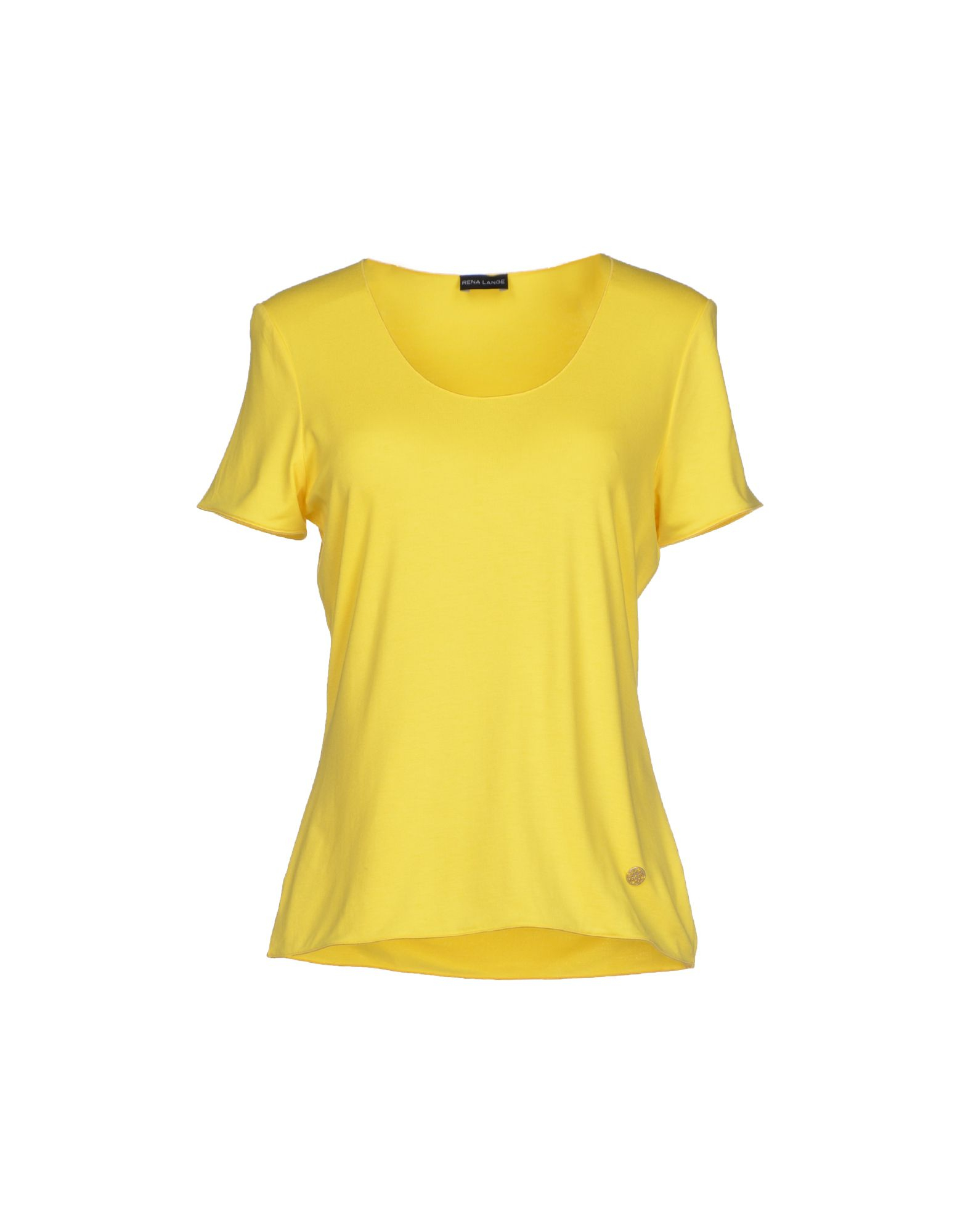 rena lange t shirt in yellow lyst. Black Bedroom Furniture Sets. Home Design Ideas