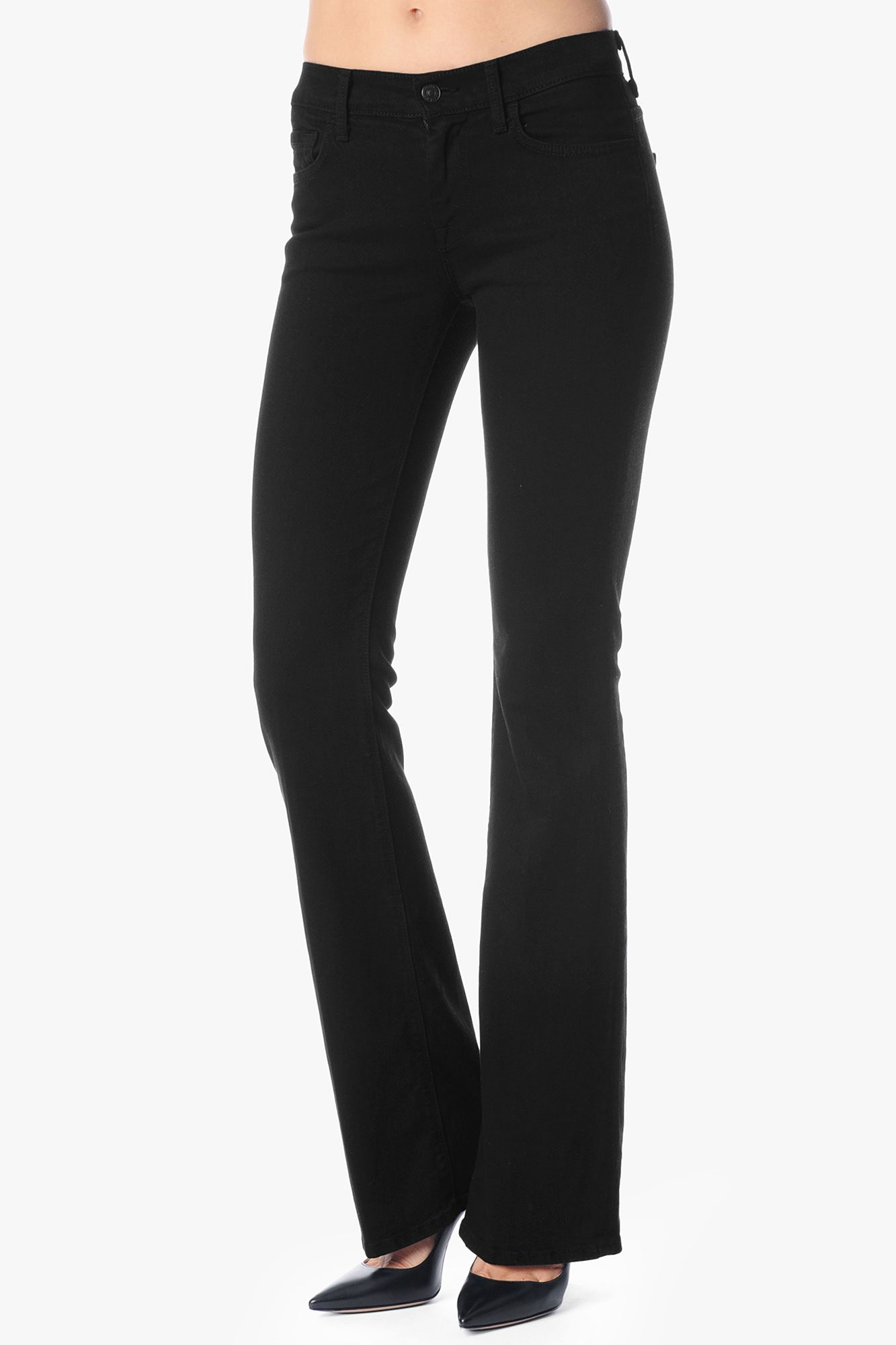 4954a484ab9 Lyst - 7 For All Mankind Mid Rise Original Bootcut In Black Black in ...